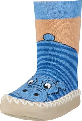 Playshoes Unisex Kid's Anti-Slip Cotton Socks Hippo Slippers