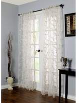 Commonwealth Home Fashions Venice 84-Inch Embroidered Window Curtain Panel in White