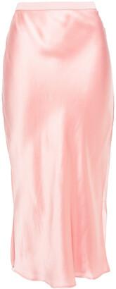 CAMI NYC Silk-satin Midi Skirt