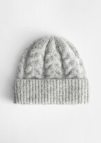 And other stories Chunky Braid Knitted Wool Blend Beanie