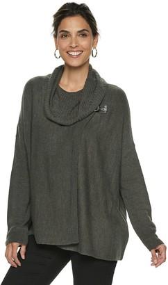 Women's Napa Valley Cowlneck Buckle-Detail Dolman Sweater