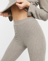 Thumbnail for your product : Pimkie ribbed flare trousers in beige (co-ord)