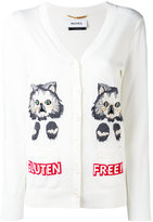 Muveil cat intarsia cardigan - women - Cotton - 40