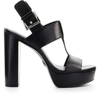 Michael Kors Becker Black Platform Sandal