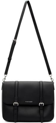 Alexander McQueen Black Buckle Messenger Bag