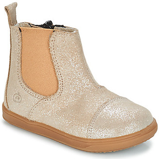 Citrouille et Compagnie FEPOL girls's Mid Boots in Silver