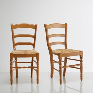La Redoute Interieurs AUTHENTIC STYLE Solid Beech Chairs (Set of 2)