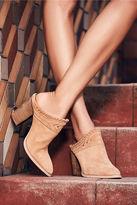 Kristin Cavallari Chinese Laundry Nikki Grey Suede Leather Mules
