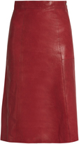 Vanessa Bruno Doma A-line leather skirt