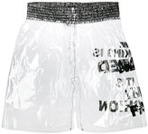Comme des Garcons transparent shorts - men - PVC - M