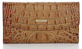 Brahmin Toasted Almond Collection Croco-Embossed Checkbook Wallet