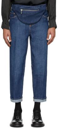 Neil Barrett Indigo Vintage Wide Jeans