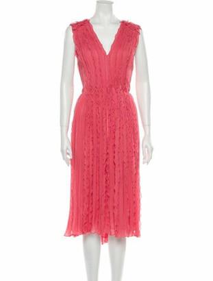 Jason Wu Collection Silk Midi Length Dress w/ Tags Pink