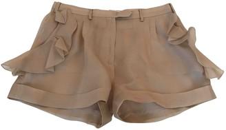 Valentino \N Beige Silk Shorts