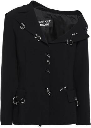 Boutique Moschino One-shoulder Barbell-embellished Stretch-crepe Jacket