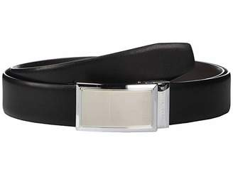 Perry Ellis Portfolio Nickel Finish Plaque Reversible Belt