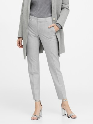 Banana Republic Petite Ryan Slim Straight-Fit Washable Wool-Blend Pant
