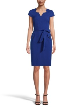 Kasper Petite Belted Sheath Dress