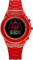 Star Wars Darth Vader Kids Red Silicone Strap Flashing LCD Digital Watch