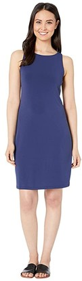Tommy Bahama Matte Jersey Sleeveless Shift Dress (Island Navy) Women's Clothing