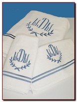 The Well Appointed House Set of Six Garland Towels with Optional Monogram