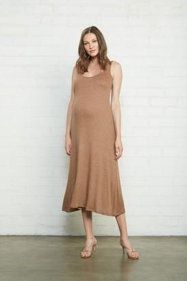 Maternity Metallic Rib Fiona Dress