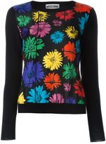 Moschino daisy print jumper - women - Silk/Virgin Wool - 38