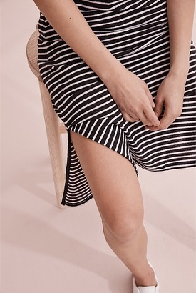 Country Road Stripe Linen Jersey Dress