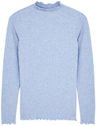 Mads Norgaard Trutte light blue stretch-jersey top