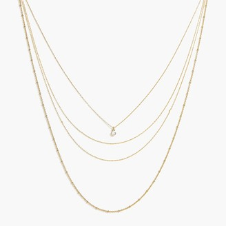 J.Crew Multichain layering necklace