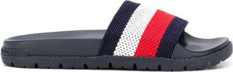 Tommy Hilfiger Striped Woven Slides