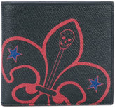 Alexander McQueen badge print wallet - men - Leather - One Size