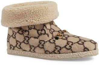 Gucci Men's Fria GG Wool Slippers