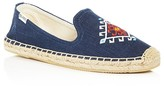 Soludos Embroidered Linen Smoking Slipper Espadrille Flats