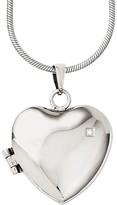 "Steel by Design 20"" Polished Heart Locket Necklace"