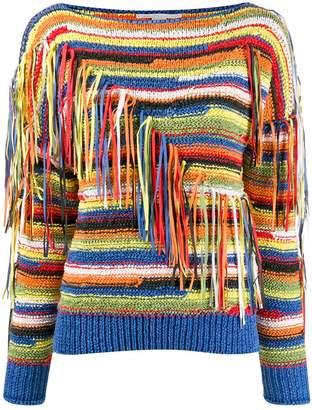 Stella McCartney striped tassel knitted jumper