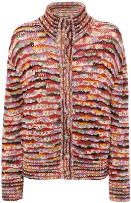 Missoni Intarsia Knit Wool Blend Cardigan