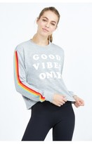 Spiritual Gangster Good Vibes Only Crop Sweatshirt