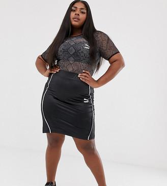 Puma Plus Exclusive bodycon wetlook black Skirt