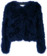 MSGM fur jacket - women - Polyester/Turkey Feather - 40