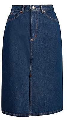 Polo Ralph Lauren Women's A-Line Denim Midi Skirt