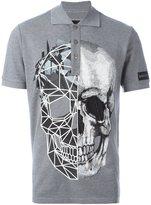 Philipp Plein contrasting skull polo shirt