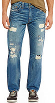 True Religion Geno Destruction Slim-Straight Jeans
