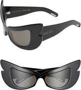 Gucci 57mm Butterfly Shield Sunglasses