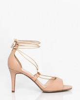 Le Château Leather-Like Ghillie Tie Sandal
