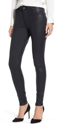 KUT from the Kloth Donna Coated High Waist Skinny Pants