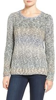 Lucky Brand Women's Lace-Up Ombre Sweater