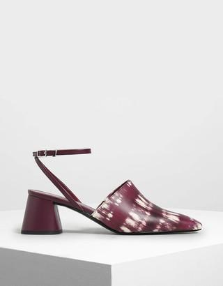 Charles & KeithCharles & Keith Closed Toe Block Heel Printed Sandals