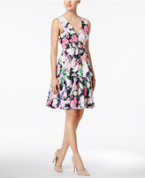 Betsey Johnson Floral-Print Bow Fit & Flare Dress