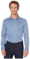 Johnston & Murphy Shadow Dot Print Shirt (Blue) Men's Clothing